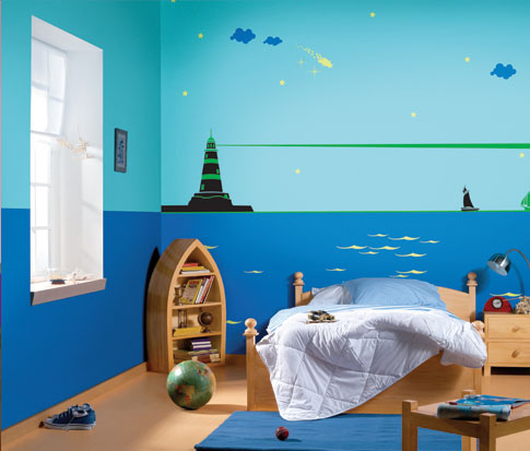 Kids room painting ideas sumit hardware champasari - Nerolac paints shades for living room ...